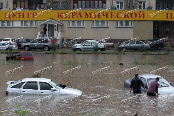 Aftermath of heavy shower in Kazan