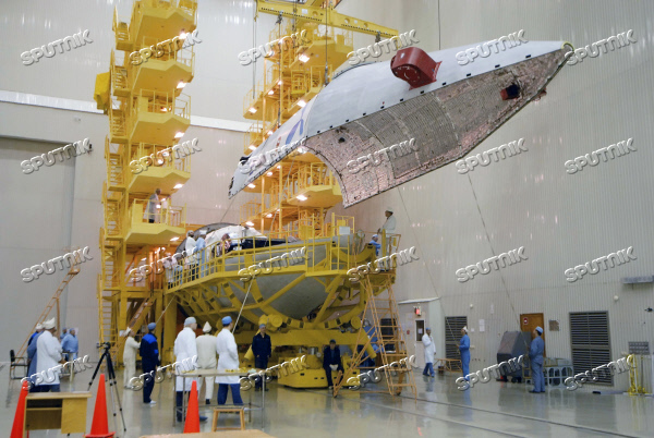 Preparations for the launch of a Proton-M