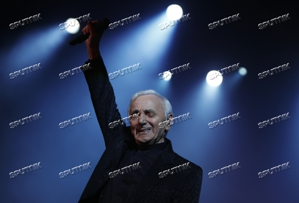 Charles Aznavour performs at his concert in Yerevan