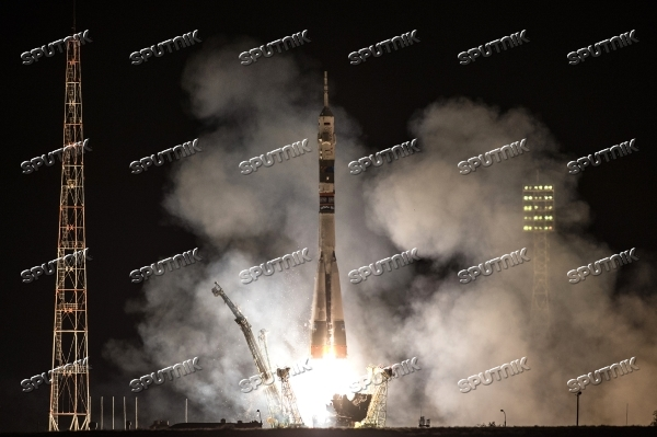 Soyuz ТМА-14М rocket launched from Baikonur Cosmodrome