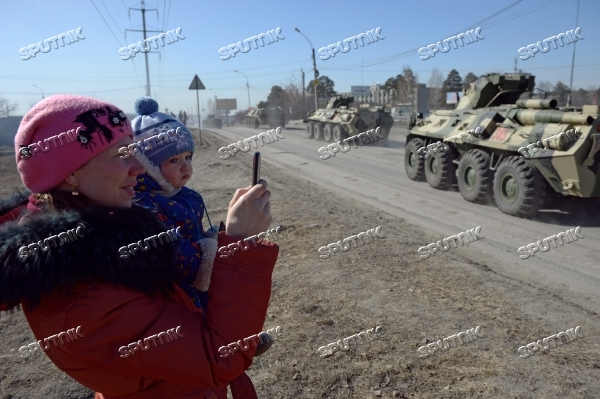 First rehearsal of Victory Parade in Yekaterinburg