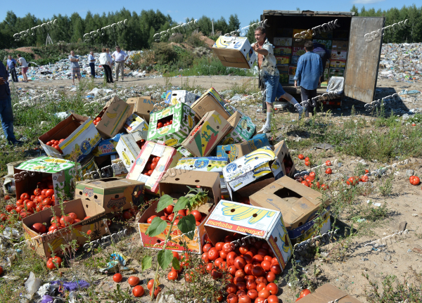 Sanctioned foods destroyed in Russia