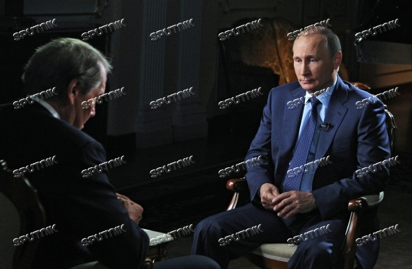 Russian President Vladimir Putin gives interview for CBS and PBS channels