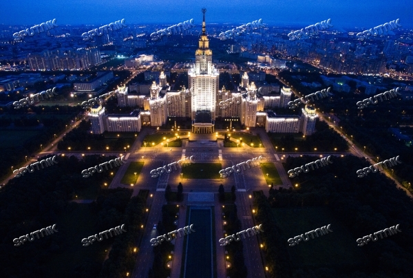 Aerial views of Moscow