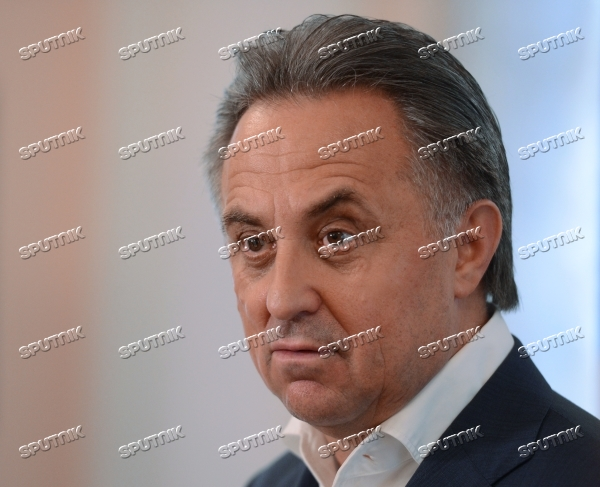News conference by Russian Minister of Sport Vitaly Mutko