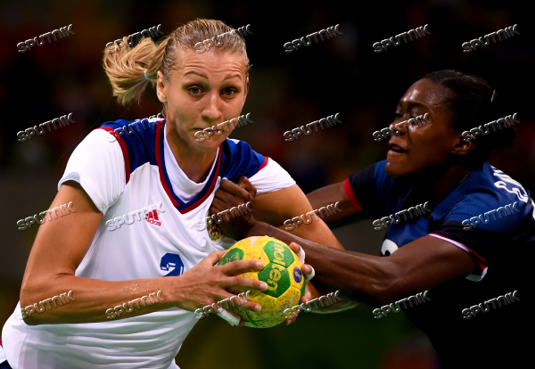 2016 Summer Olympics. Handball. Women. France vs. Russia