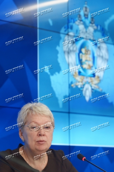 News conference by Minister of Education and Science Olga Vasilyeva