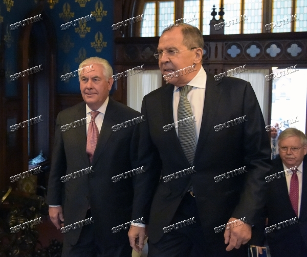 Talks between Foreign Minister Sergei Lavrov and US Secretary of State Rex W. Tillerson
