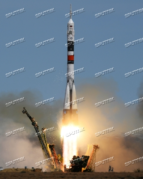 Soyuz-FG carrier rocket with manned spacecraft Soyuz MS-04 launches from Baikonur