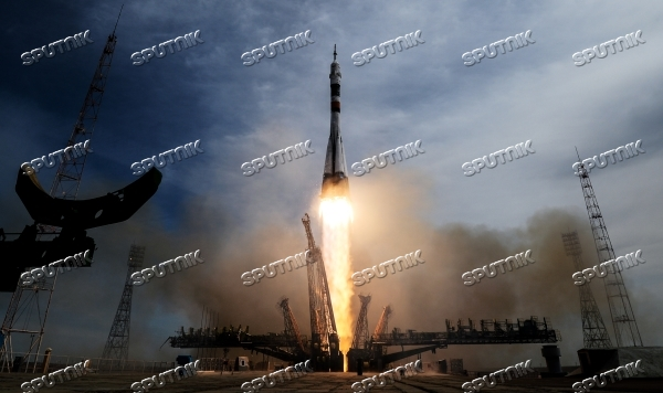 Launch of Soyuz-FG carrier rocket with Soyuz MS-04 aboard from Baikonur space center