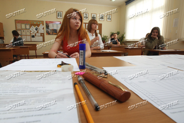 Russian-language Unified State Exam at a Moscow school