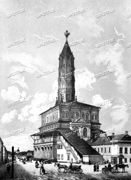 """Suhhareva Tower, late 1840s"""