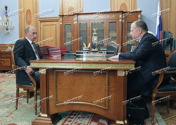 Vladimir Putin Meets With Vladimir Lisin Sputnik Images Media Library