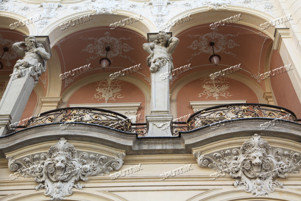 Balcony of City Theater in Karlovy Vary