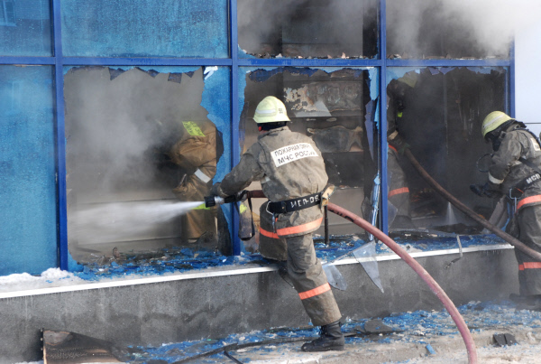 Fire at Olimp shopping mall, Ufa