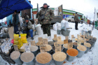 Chelyabinsk Bird Market in operation