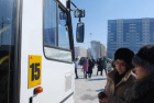Tactile signs for blind bus passengers in Yakutsk