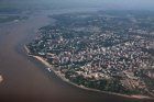 View of Khabarovsk from an airplane