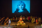 Funeral service for actress Marina Golub at Chekhov Theater