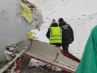 Aftermath of Tu-204 plane crash at Vnukovo airport