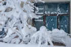 Aftermath of low-pressure system in Sakhalin