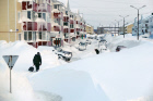 Aftermath of a snowstorm in Sakhalin