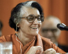 INDIRA GANDHI PRESS-CONFERENCE SMILE
