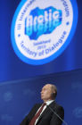 Vladimir Putin at International Arctic Forum in Salekhard