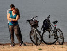 Bicycle picnic on Russky Island in Vladivostok