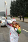 Olympics torch relay. Moscow. Day One