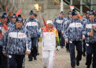 Olympic torch relay. Moscow. Day Two