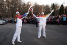 Olympic torch relay. Tula Region