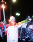 Sochi 2014 Olympic torch relay. Petrozavodsk