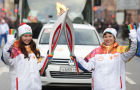 Sochi 2014 Olympic torch relay. St. Petersburg. Day 1