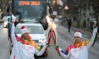Olympic torch relay. St. Petersburg. Day Two
