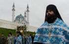 Religious procession in honor of Our Lady of Kazan icon