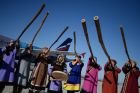 Olympic torch relay. Yuzhno-Sakhalinsk