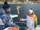 Olympic torch relay. Baikal