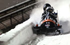 Bobsled. Second stage of World Cup. Women's double