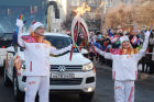 Olympic Torch Relay. Cheboksary