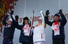 Olympic torch relay. Kazan. Day 2