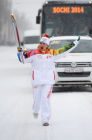 Olympic torch relay. Voronezh