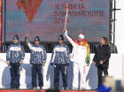 Sochi 2014 Olympic torch relay. Astrakhan