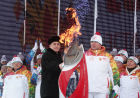 Olympic torch relay. Nalchik