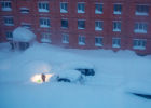 Severe snowstorm in Sakhalin