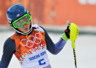 2014 Winter Olympics. Alpine skiing. Women. Slalom