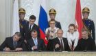 Signing Russian Federation-Crimea Treaty on Crimea's integration with Russia and formation of new jurisdictions in Russian Federation