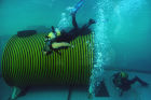 Exhibition games by divers from Rescuer Training Center, Emergencies Ministry