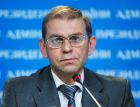 Acting Head of the Ukrainian Presidential Administration Sergei Pashinsky holds a briefing