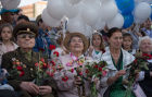 Launching balloons in memory of Great Patriotic War victims